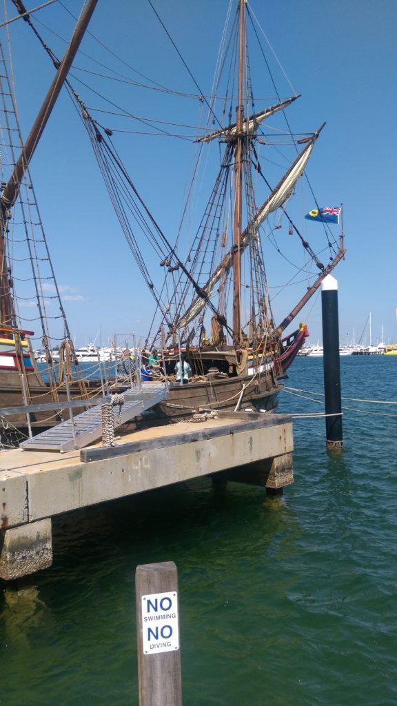海洋博物館にとまっていた船