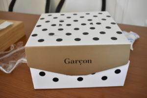 ギャルソンのケーキが入っていた箱。可愛い!